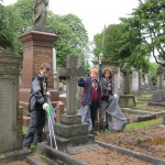 Litter picking in Brandwood End Cemetery